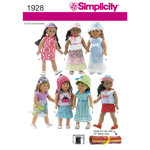 Simplicity Pattern 1928 Doll Clothes