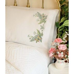 Butterflies and Fern Pillow Cases, Stamped Cross Stitch_72967