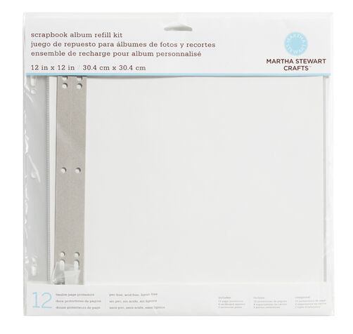 12 x 12 in album page protector refills _40-49002