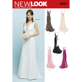 New Look Pattern 6401 Misses Special Occasion Dresses