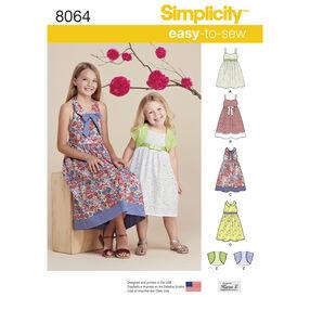 Simplicity Pattern 8064 Child's and Girls' Dresses and Bolero