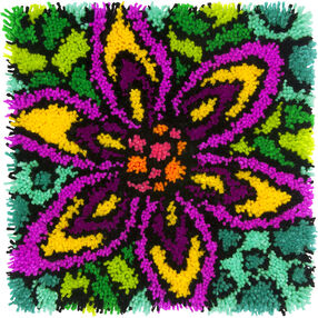 Colorful Flower, Latch Hook, 72-74999