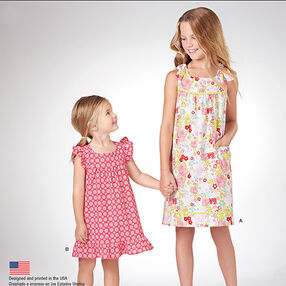 Pattern 8076 It's So Easy Dresses for Child and Girl