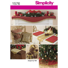 Simplicity Pattern 1576 Holiday Décor