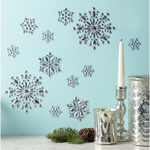 Frosty Elegance Embossed Mirror Clings_48-30221