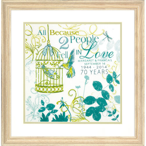 Two People Anniversary Record Crewel Embroidery Kit_71-73812