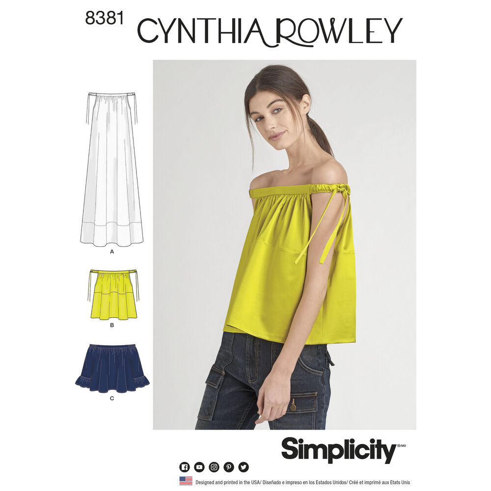 Cynthia Rowley Sewing Patterns: Simplicity Pattern 8381 Misses' Dress Or Top