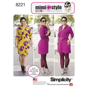 Simplicity Pattern 8221 Mimi G Style Dress for Miss and Plus Sizes