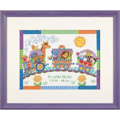 Baby Express Birth Record, Counted Cross Stitch_73428