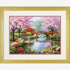 Japanese Garden in Counted Cross Stitch_70-35313
