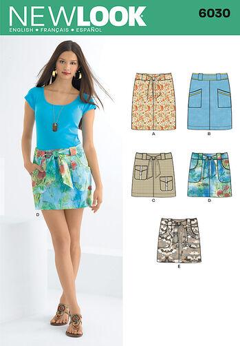Misses' Skirts & Belt