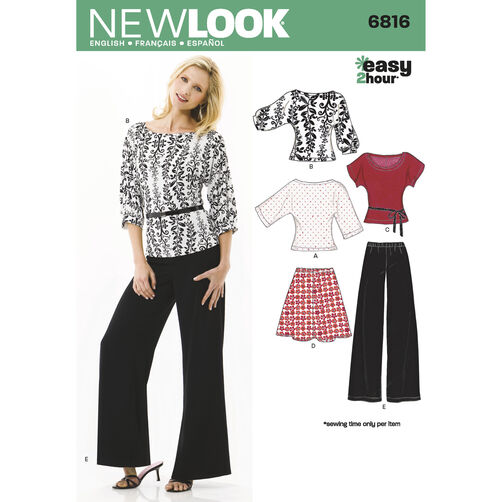 New Look Pattern 6816 Misses Separates