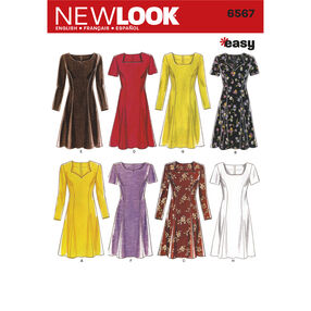 New Look Pattern 6567 Misses Dresses