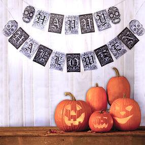 Black & White Halloween Banner Kit_50-40360