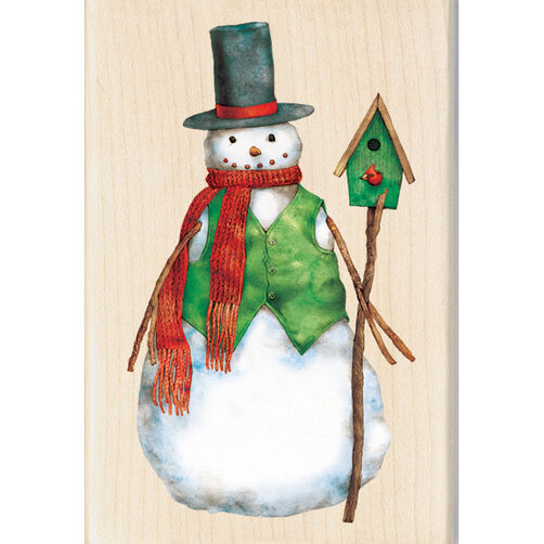 Dapper Snowman Wood Stamp_60-00951