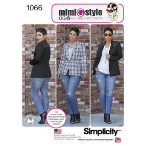 Simplicity Pattern 1066 Misses' Lined Jacket, Mimi G Collection