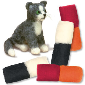 Cat Felted Characters, Set of 2_149098