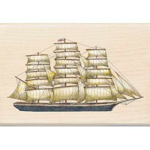 Tall Ship Wood Stamp_60-00974