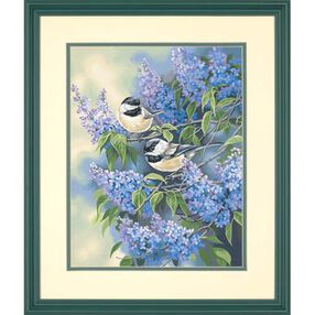 Chickadees and Lilacs, Paint by Number_91361