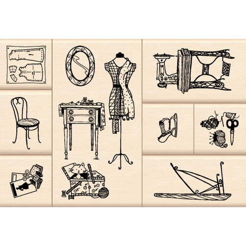 Sewing Room Layering Wood Stamps_60-10109