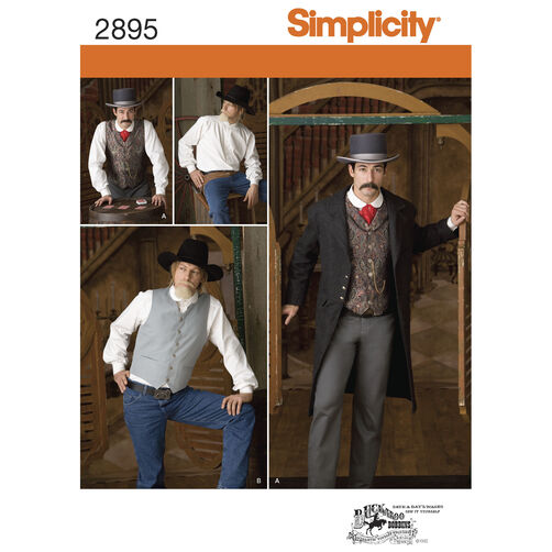 Simplicity Pattern 2895 Men's Costumes