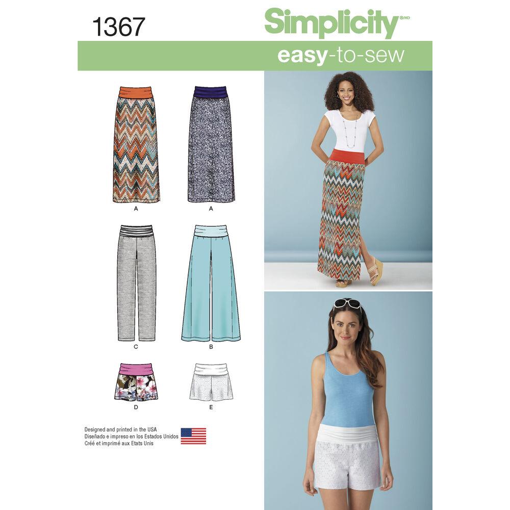 Pattern for Misses' Slim Maxi Skirt, Pants & Shorts ...