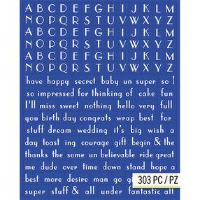 Lily Ashbury Indigo Garden Blue Alphabet Adhesive Chipboard_30-682559