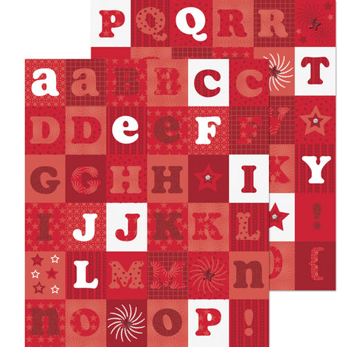 Americana Red Alphabet Die-cut Sticker_30-588080