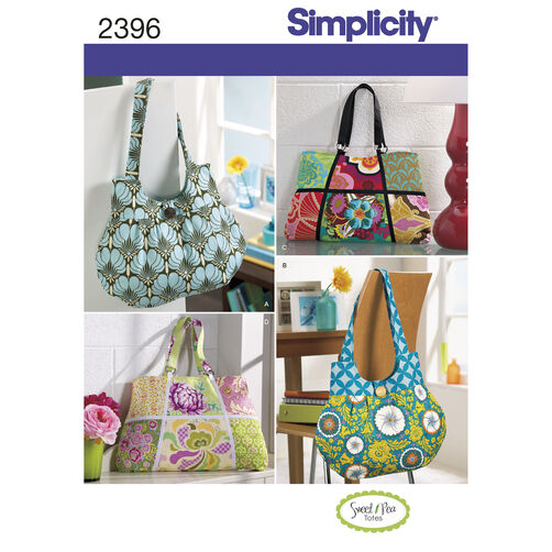 Simplicity Pattern 2396 Tote Bags