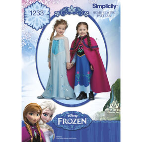 Simplicity Pattern 1233 Disney Frozen Costume for Children