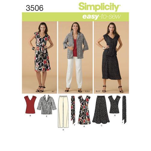 Simplicity Pattern 3506 Misses' & Plus Size Sportswear