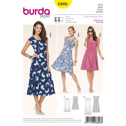 Burda Style Pattern 6806 Dresses