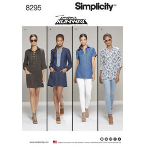 Simplicity Pattern 8295 Misses' Tunic or Dress Inspired by Project Runway
