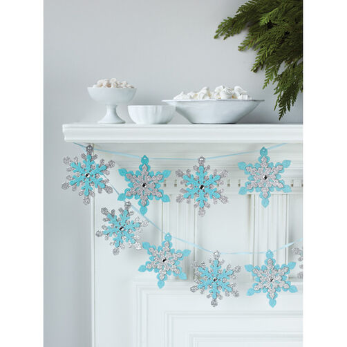 Snow Lace Glittered Garland_48-30001
