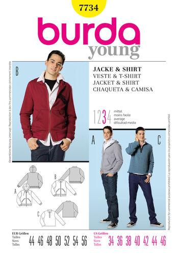 Burda Style Pattern 7734 Jacket & Shirt