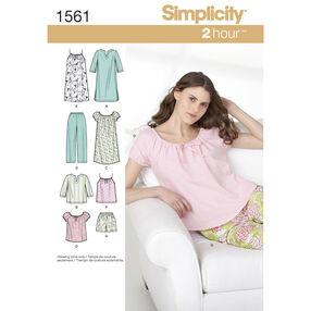 Simplicity Pattern 1561 Misses' Sleepwear