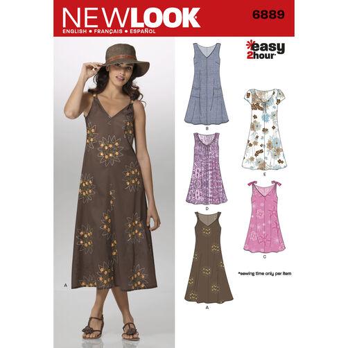New Look Pattern 6889 Misses Dresses