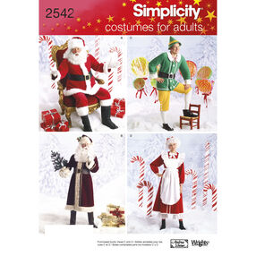 Simplicity Pattern 2542 Adult Costumes