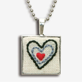Heart Bezel Pendant, Embroidery_72-74075
