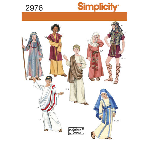 Simplicity Pattern 2976 Boys' & Girls' Easter Costumes