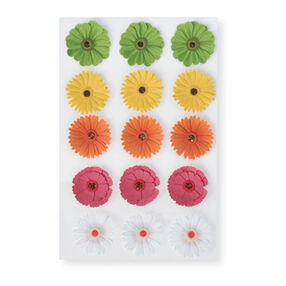 Dimensional Zinnia Stickers_M355004