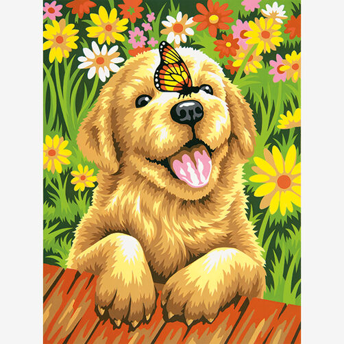Puppy Gardener, Paint by Number_73-91457