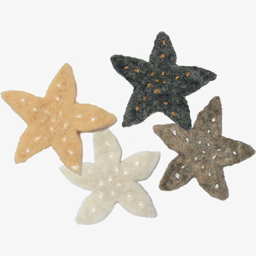 Neutral Wool Felt Stars_72-73957