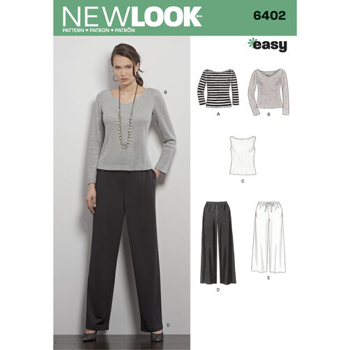 New Look Pattern 6402 Misses' Pants and Knit Tops