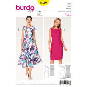 Burda Style Pattern B6529 Misses' Short Sleeve Dress