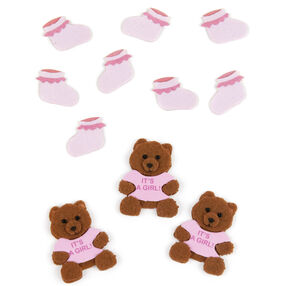Baby Girl Bear and Bootie Embellishments_50-00442