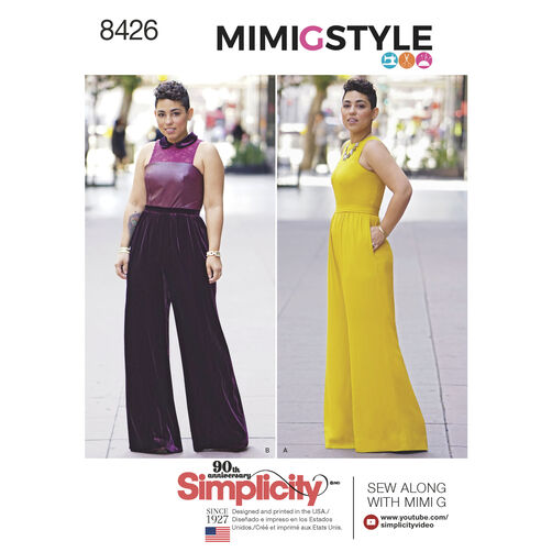 Simplicity Pattern 8426 Misses' & Plus Size Jumpsuit by Mimi G