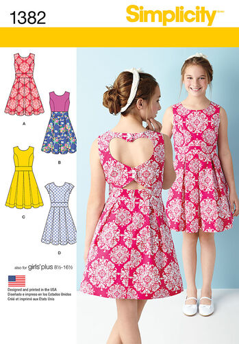 Girls' & Girls' Plus Dress with Back Variations