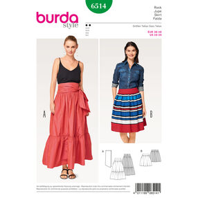 Burda Style Pattern B6514 Misses' Tiered Skirt