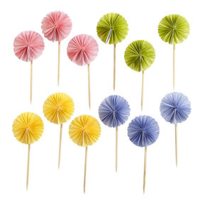 Spring Pom-Pom Food Picks _48-10001